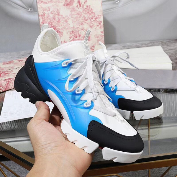 New Designer Brand Man Casual Shoes Flat Fashion Leather Lace-up Low Cut Trainers Runaway Arena Shoes xt19053002