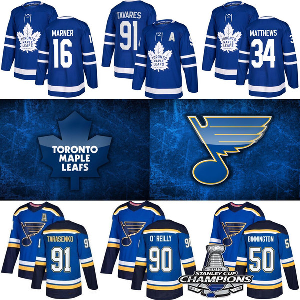best selling St. Louis Blues Jersey 2019 Stanley Cup Champions Toronto Maple Leafs William Nylander Hockey Jerseys 91 Tarasenko 90 O'Reilly 17 Schwartz