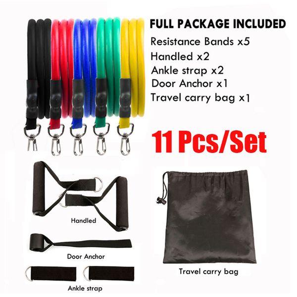 11 Pcs Set Pull Rope Fitness