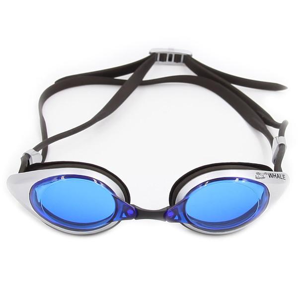 WHALE CF-1200 Swim Goggle Swimwear Occhiali sportivi Occhiali anti-fog Protezione UV con custodia Custodia per adulti Occhiali da nuoto