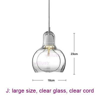 large, clear glass, clear cord
