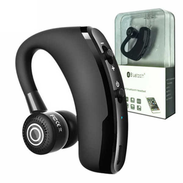 Cuffie senza fili Bluetooth V9 Vivavoce CSR 5.0 Noise Cancelling Auricolare Business Headset Controllo vocale con microfono per driver Sport Auricolari
