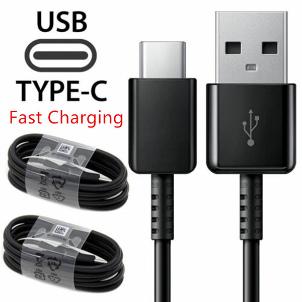 Long 1.2m Type-C USB Cable Data Sync Quick Charger For Samsung Galaxy S9 Huawei