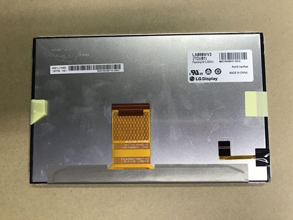 "best selling Free shipping 100% New Original 8.0"" TFT LCD Digitizer LA080WV2(TD)(01) LA080WV2-TD02 LCD Screen For CAR Toyota Highlander (2014-2015) RAV4"