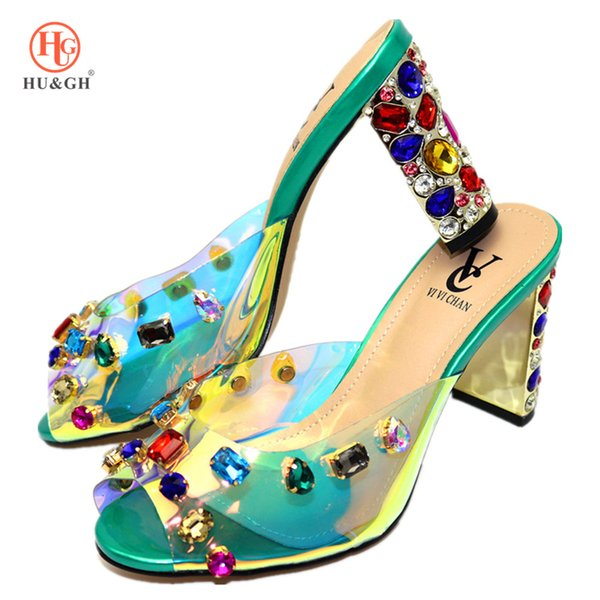 Latest Green Color Italian Women Sandals Shoe For Party African Wedding High Heels Slip On Women Pumps Wedding Shoe Black Dhgate Com Imall Com