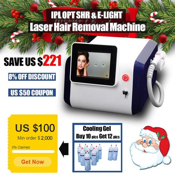 CE aprovado IPL OPT SHR de laser máquina de remoção de cabelo Elight pigmentação remoção de equipamentos de beleza com mais de 300.000 tiros handpiece do laser