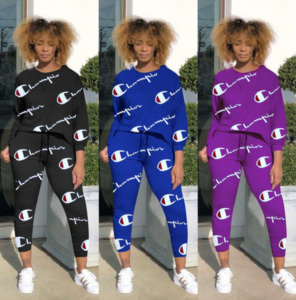 fd3912a9321 Brand Designer women sweatsuit joggers two pieces Champions outfits  sweatshirt leggings winter clothes sportswear pants tracksuit