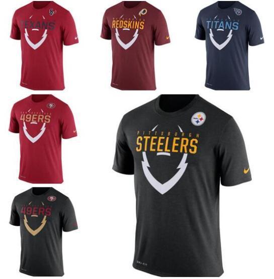 New Style Washington Francisco Pittsburgh Tennessee Titans Philadelphie hommes aigles Pro Line Légende Icône T-shirt 12