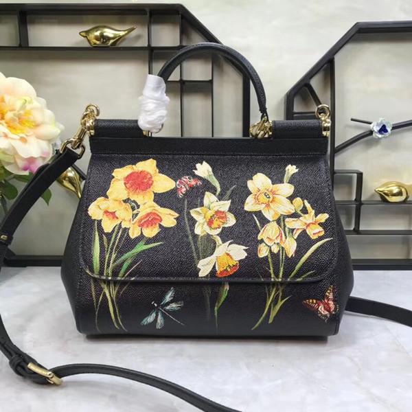 Top Qualität Klassische 100% Echtes Leder Marke Berühmte Frauen Handtasche Mode Geldbörsen Weibliche Designer Luxus Runway WA0145
