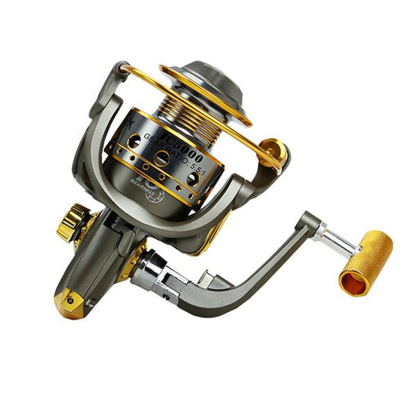10BB Spinning Fishing Reel Rough Line Metal Wire Cup Saltwater Freshwater 5.5:1 Fishing Reels