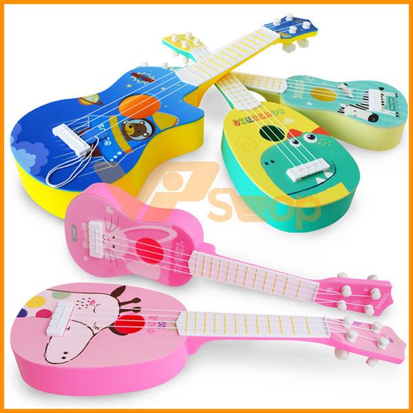 Mini Ukulele Chitarra di simulazione per bambini strumenti musicali di musica del giocattolo di sviluppo La formazione gioca per i regali dei bambini del bambino Christmas Party
