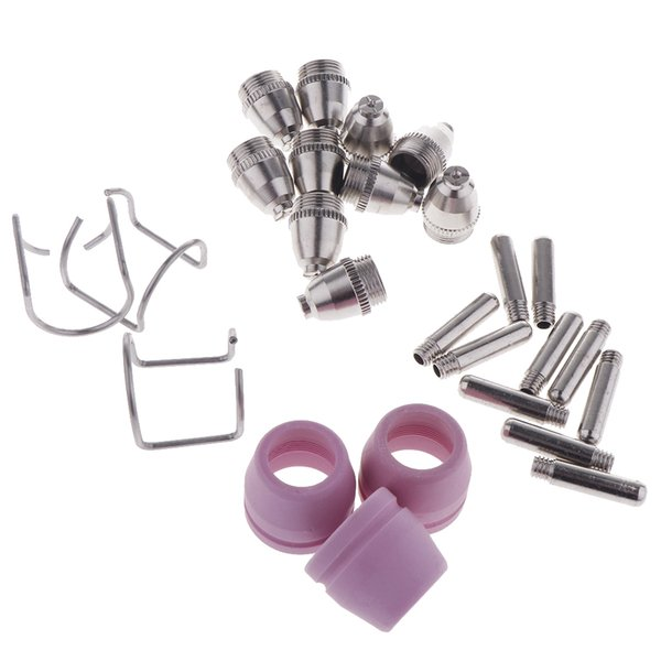 top popular 26 Pieces SG55 AG60 Plasma Cutter Torch Consumables Accessories 2021