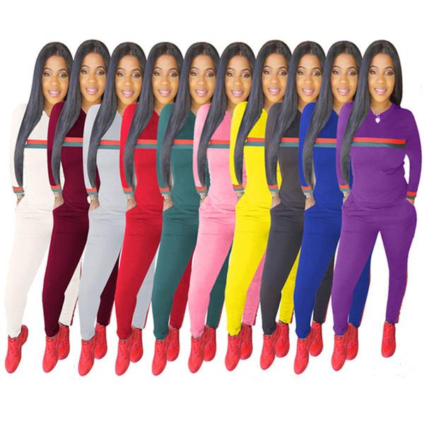 Designer Damen Wintersportbekleidung Hoodie Hosen Zweiteiler gestreift Pullover Leggings Sportanzug Herbst Trainingsanzug Outfit Strumpfhose Sweatanzug 794