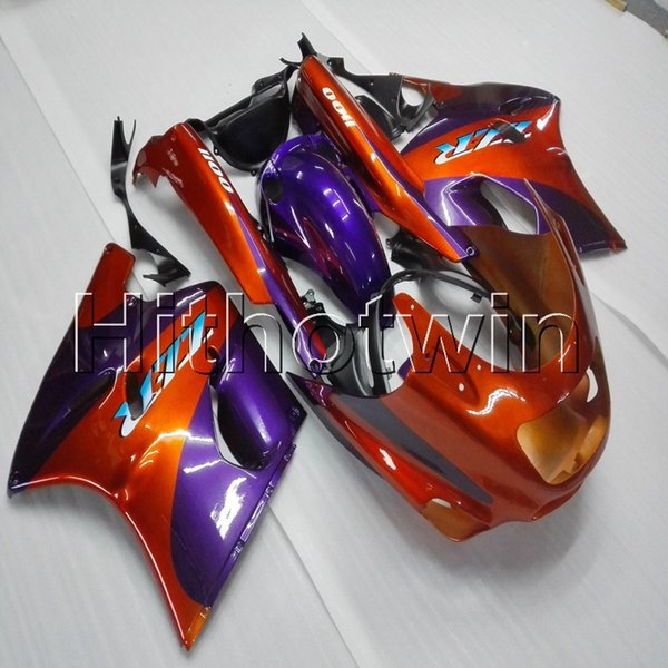 Screws+8Gifts orange motorcycle cowl for Kawasaki ZX11R ZZR1100 1992 1993 1994 1995 1996 1997 1998 1999 2000 2001 ABS motor Fairing