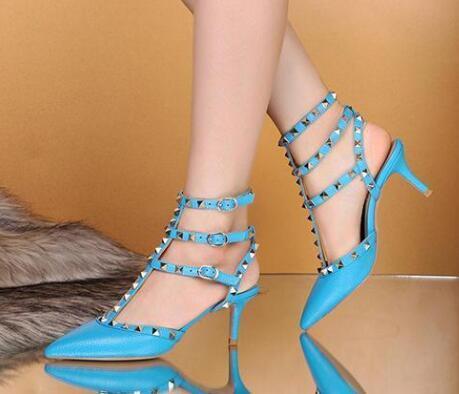 talons robe chaussures fête mode rivets filles sexy bout pointu chaussures boucle plateforme pompes chaussures de mariage noir blanc livraison gratuite