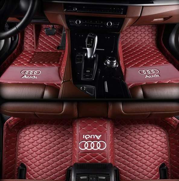 best selling Suitable for Audi A5   soft top convertible 2010-2017 stitching car mat non-slip interior leather environmentally friendly mat