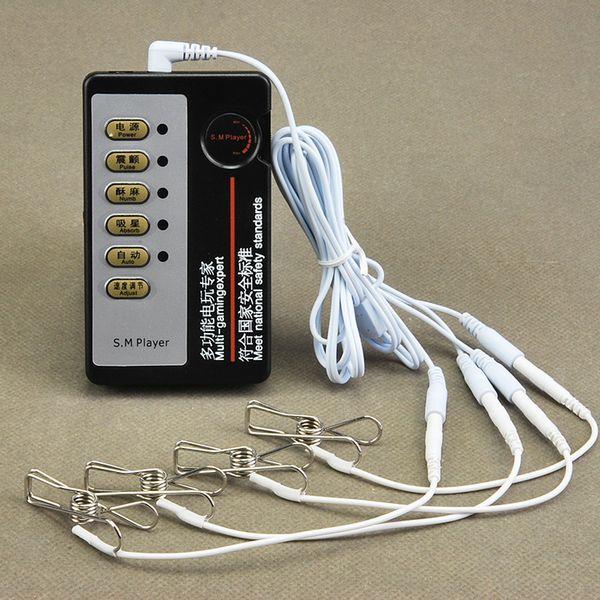Morsetti per capezzoli per elettroshock Giocattoli erotici, capezzoli per elettroshock / clip per figa Massaggio per stimolazione, clip per capezzoli E-Shock per donne Y18110801