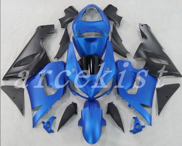 New ABS Fairings Kit Fit For Kawasaki Ninja 636 ZX-6R ZX6R 05 06 2005 2006 Bodywork set custom black blue matte
