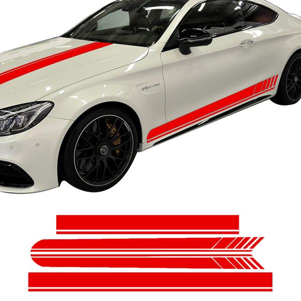 Édition 1 côté jupe capot toit Racing Racing Stripe vinyle autocollant de voiture autocollant pour Mercedes Benz C63 coupé W205 AMG C200 C43 accessoires