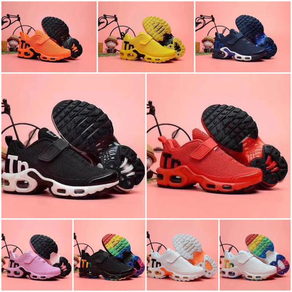 Nike Air TN Plus venta caliente 2020 Bebé Niños plus tn zapato de la muchacha del muchacho Para los niños clásico de padre-hijo atlética mezcla aire libre zapatilla de deporte