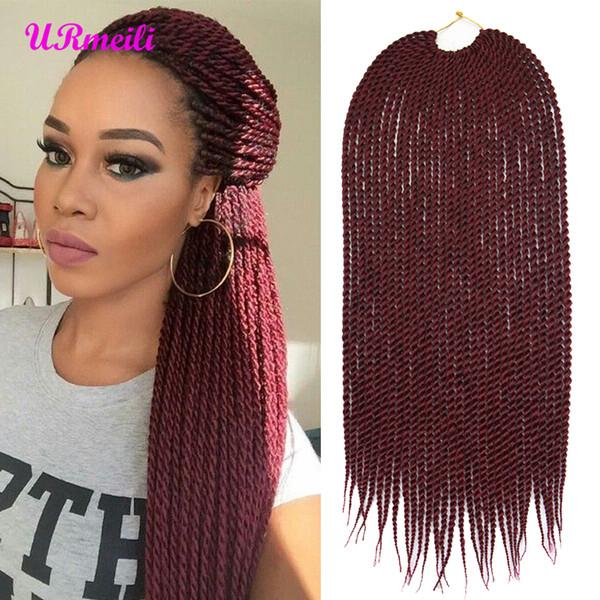 URmeili Ombre crochet hair senegalese twist hair box crochet braids 14 18 22 inch kanekalon synthetic braid hair extension trenzas africanas