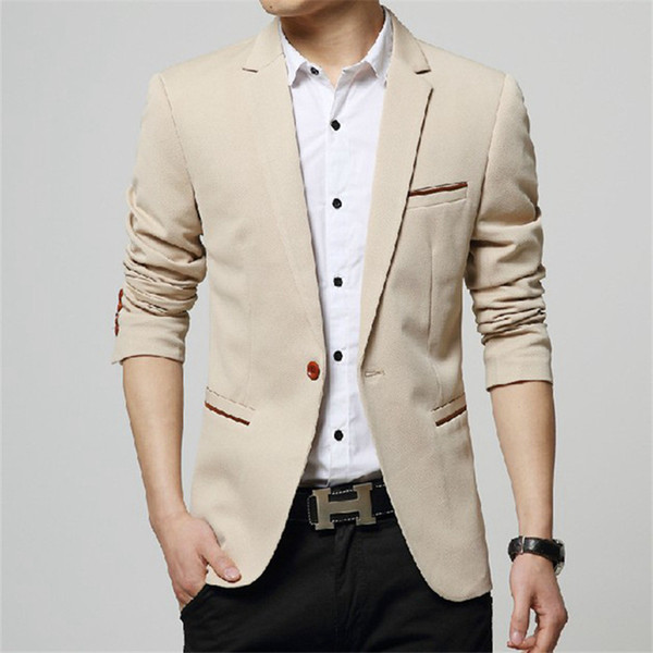 5 Colors Men Blazers Brand 2018 Korean Style Men's Blazers and Jacket Slim Fit Solid Casual Suits Jacket