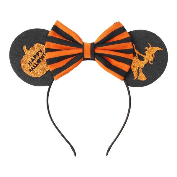 Halloween-Mädchen-Haar-Sticks Maus-Ohr-Kopfband für Kinder Kürbis Hexe Stirnband-Partei-Geschenk neue Art und Weise Hairband