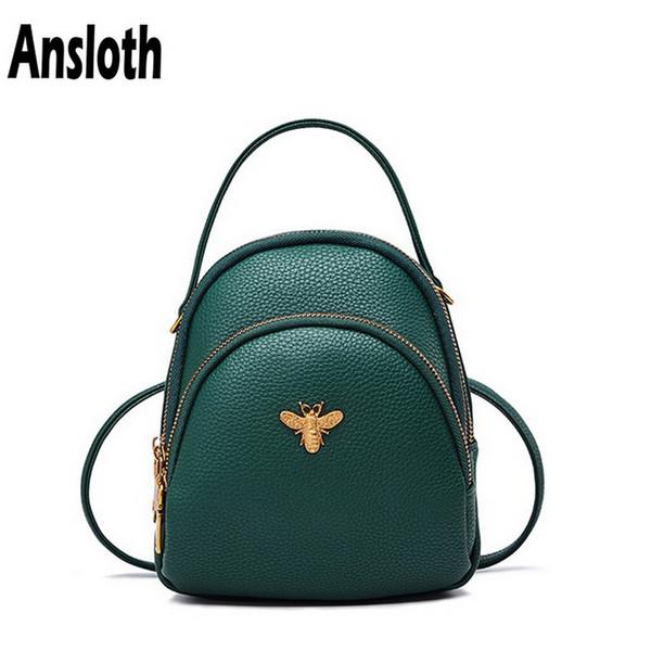 Ansloth Mini Rucksack Weibliche Berühmte Marke Umhängetasche Pu-leder Taschen Mode Frauen Rucksack Klassische Luxus Umhängetasche HPS89