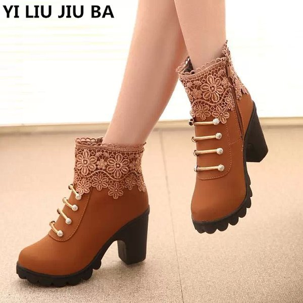 winter Women Ankle Boots Warm Winter Boots Zip Ladies High Heels Boots Shoes casual Sexy Party women Shoes Plus size 35-40 G284