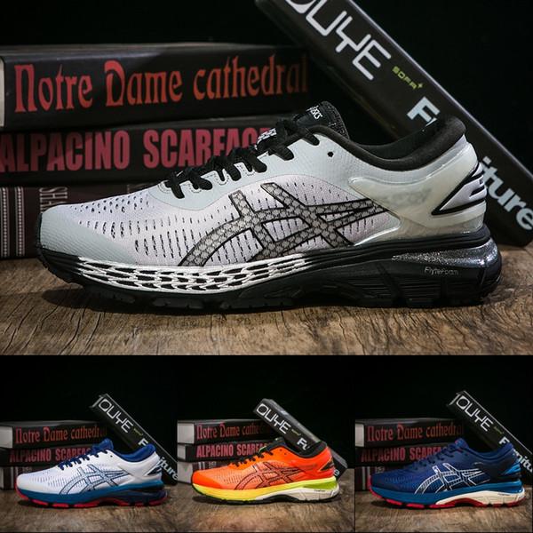 ASICS New GEL KAYANO 25 Running Shoes For Men Balck White Dark Green Designer Shoes Best Quality Sport Sneakers US 7.5-11