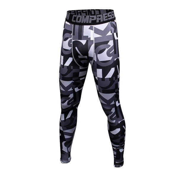 Wholesale New Rashgard Compression Pants Camouflage Quick Dry Jogging Pants Running Tights Men Sports Pants Fitness Leggings Gym Trousers