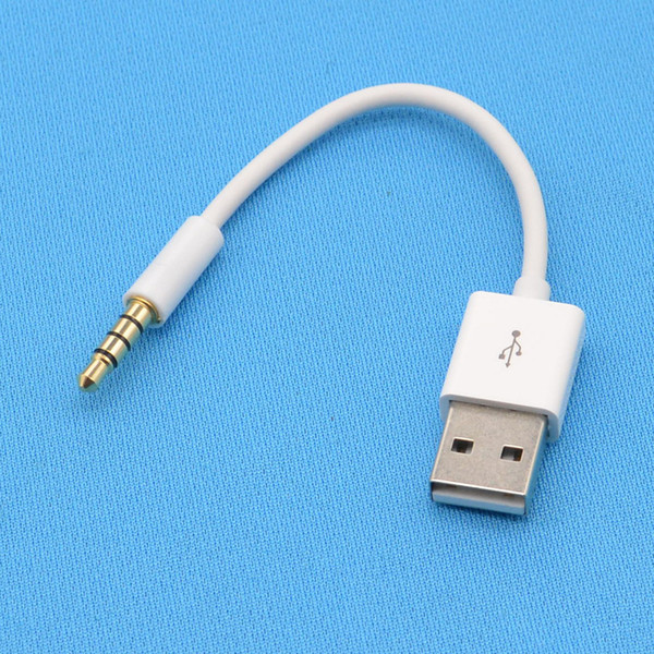 USB Cable Charger SYNC Audio Headphone Jack Adapter Cord 3.5mm White for Apple for ipod shuffle 3th 4th 5th 6th 7th