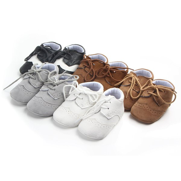 Newborn Baby Shoes First walkers Crib Baby Moccasins soft bottom Pu leather Boys Footwear