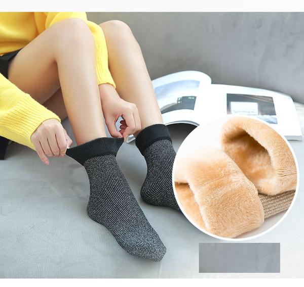 Bayan Pamuk Glitter Çorap Termal Yeni Moda Ağır Kalın Yumuşak Sıcak Kar Ev Döşeme Bulanık Kış Çorap
