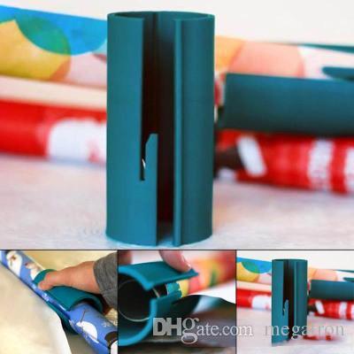 Little Christmas Elf Sliding Embrulho cortador de papel simples corte Prática Ferramenta Liso Embalagem Suprimentos com Opp lâmina incorporado Bag