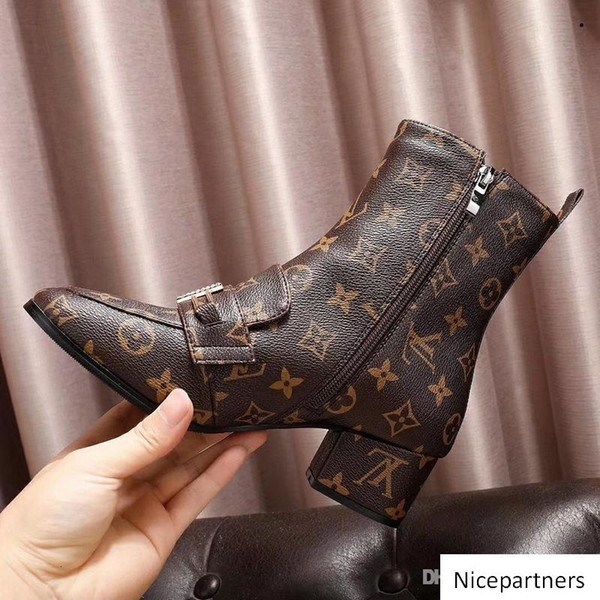 A1 Носок Ботинки Ботинки Ботильоны для женщин высокой пятки зимнего люкса Женской обуви Designe пинетка Женщины