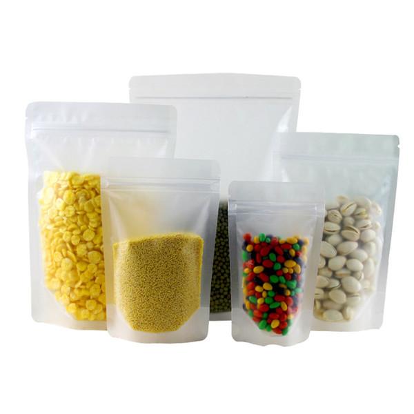 Sanding self-sealing transparent packaging independent plastic food tea candy packaging dry fruit sealing bag