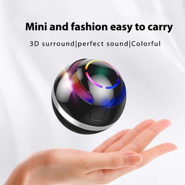 bola redonda Bluetooth Speaker Subwoofer Mini coloridos levou Música Amplificador Interior Ar Livre Altifalante Tipo clássico para tablet telefone celular