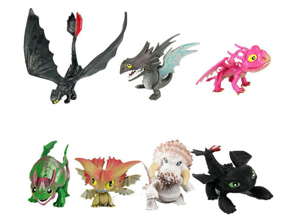 7pcs/8pcs How to Train Your Dragon 2 Figure Toys Night Fury Toothless Dragon Model Doll Toy Best Christmas Gifts For Kids