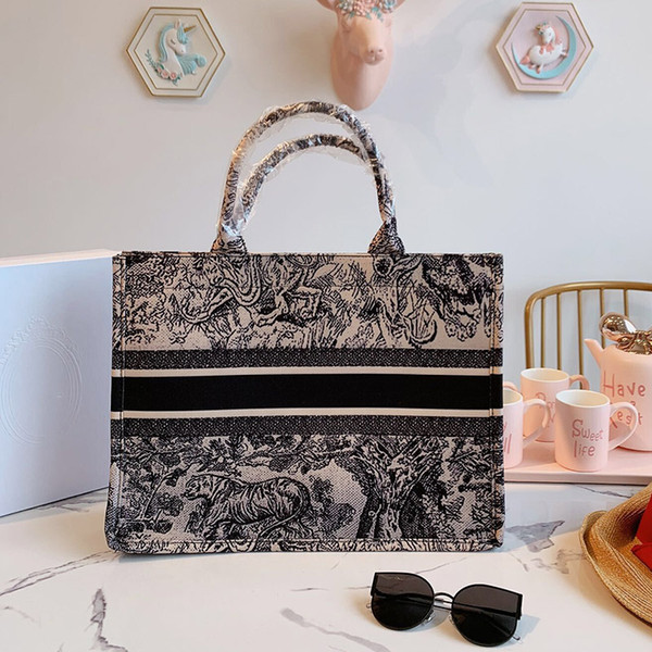 41cm классический эскиз Пляжные сумки торговые сумочек дизайнер роскошные сумки кошельки большой емкости Красочные цветы сакуры книги Totes