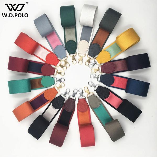 Las mujeres de tela de moda bolso de la correa ancha de alta calidad de la señora bolsa de hombro cinturones de moda elegante longitud por encargo bolsas cinturones Q0195
