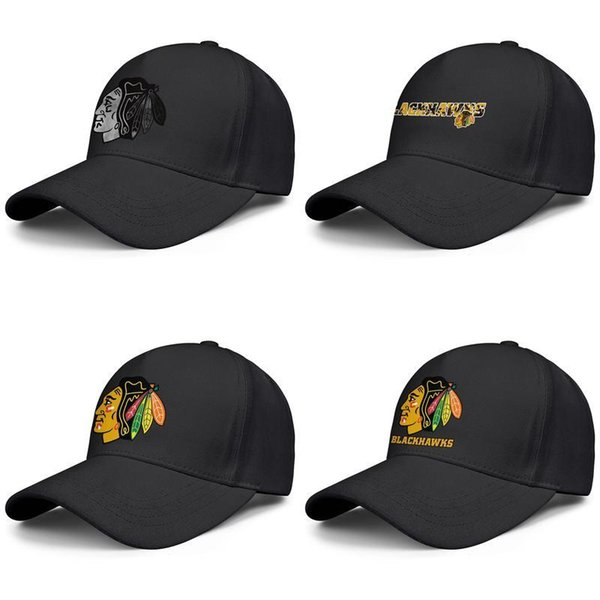 Chicago Blackhawks primary logo Men's Womens Adjustable Ball Hats Washed Fishing Caps team Ash series Coconut tree font ice hockey gray