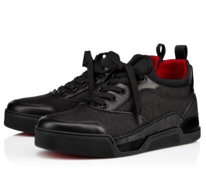 2019 Kırmızı Alt Erkekler Sneakers Aurelien Düz Severler Hakiki Deri Yüksek Top Casual Flats Kırmızı Alt Lüks Ayakkabı Boyutu: 35-46 er14