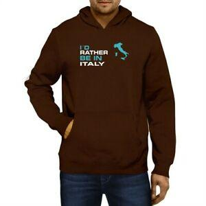 I 039 d rather be in Italy Map Hoodie Sweatshirt
