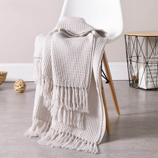 130x160cm solid knitted blanket with Tassel nordic modern Soft plaid blanket for bed Chair sofa couch home decorative blankets