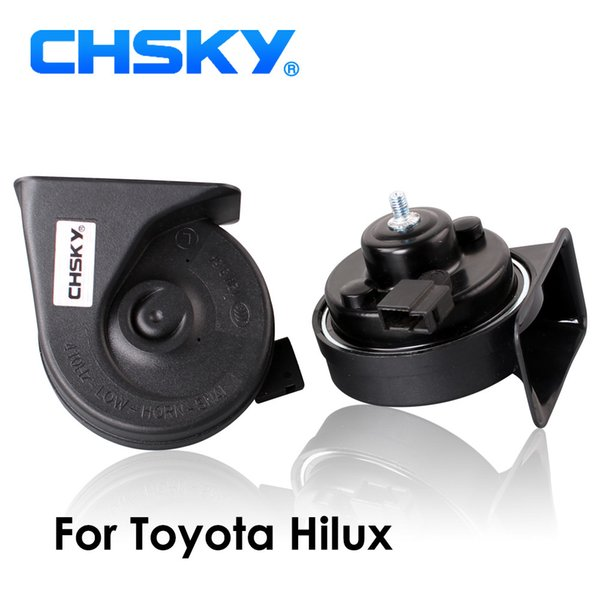 Tipo CHSKY Car chifre caracol chifre Para Hilux 2004 a EMPRESA 12V Loudness 110-129db Auto Long Life Time High Low Klaxon