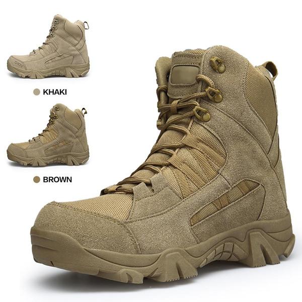 Army Boots Tactical Military Schneeschuhe Herren Zip Army Tactical Desert Combat Schuhe Sicherheit Herren Schuhe Leder Winter Herbst Braun Männlich Botas