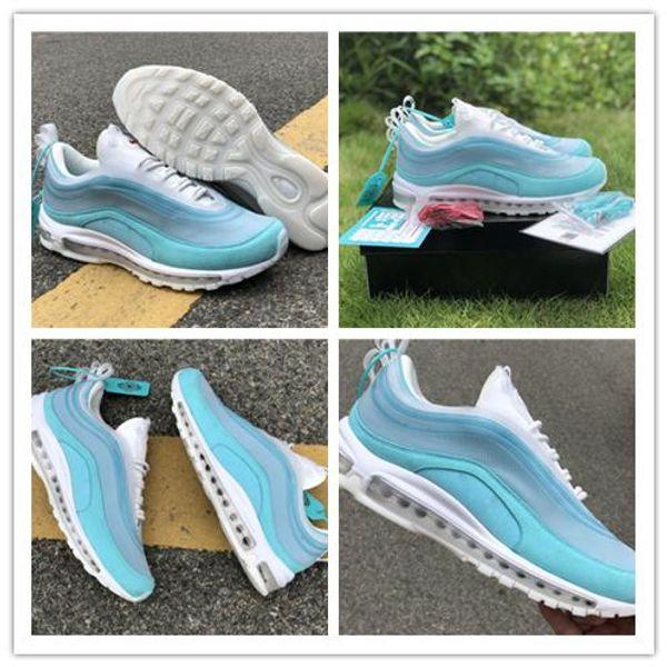 2019 Release Authentic OA CR Shanghai Kaleidoscope Blue Light Aqua Gym Red White Running Shoes Man Women Sneakers Sports 36-45 VBK,FY