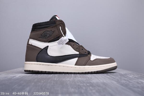 Air Retroes 1S Cactus Jack Brown High OG Zapatillas de baloncesto Travis 1 I AJ1S Hombre Inversión Inverso Logo Zapatillas deportivas