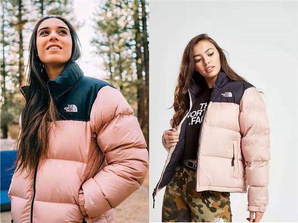 Kadınlar Tasarımcı Ceket Kalın Sonbahar Kış Down Coat WINDBREAKER Marka Ceket Fermuar Cep Kalın Açık yelekleri Çift Giyim Lüks